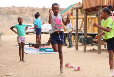 Nachmittagsbetruung in Namibia Projekt Volunteer
